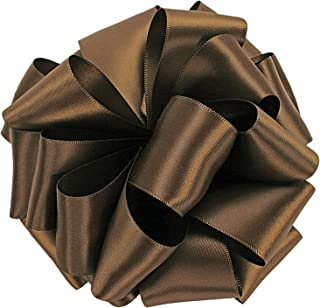 product image for Offray Single Face Satin Craft Ribbon, 7/8-Inch by 20-Yard Spool, Milk Chocolate