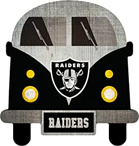 Fan Creations NFL Las Vegas Raiders Unisex Oakland Raiders Team Bus Sign, Team Color, 12 inch