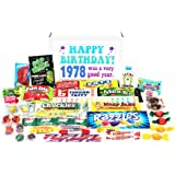 Woodstock Candy 1978 40th Birthday Gift Box - Retro Nostalgic Candy Assortment for 40 Year Old Man or Woman - Jr