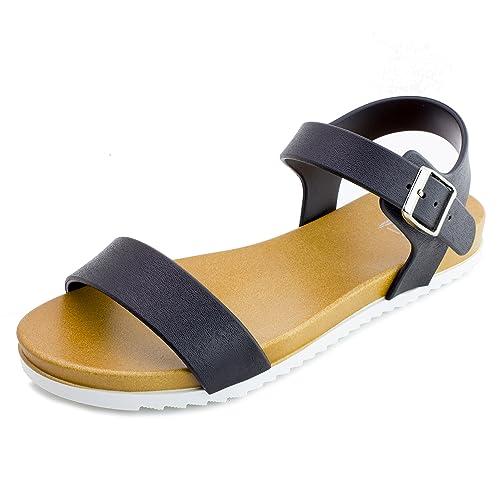 Kali Womens Open Toe Buckle Strap Sandals Adults Shoes S20X1LGLD