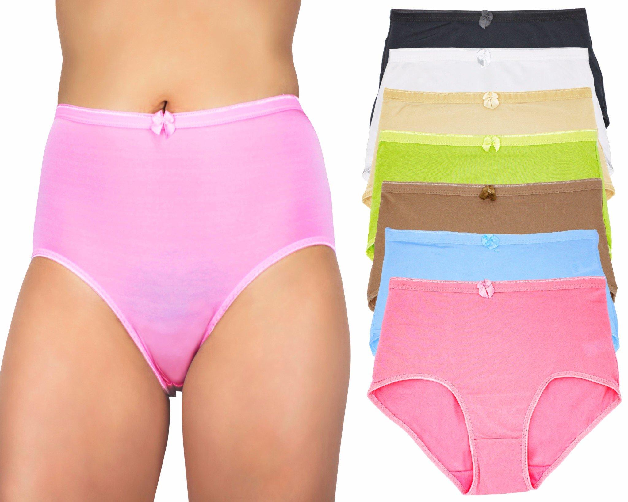 Capricia O'dare Women's High Waist Tummy Control Briefs Panties (6 Pack, Size: 2XL)