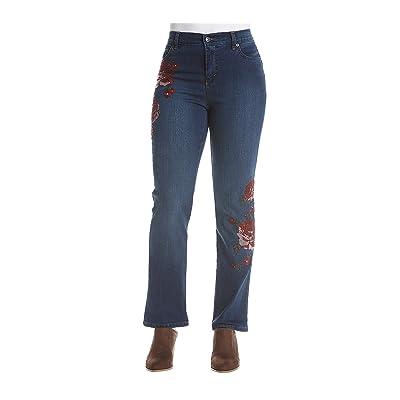 Gloria Vanderbilt Petites' Amanda Rose Bouquet Jeans
