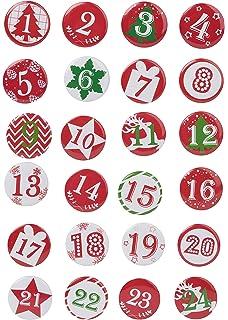 Badges Pour Votre Propre Calendrier De Lavent 24 Pièces Numérotés