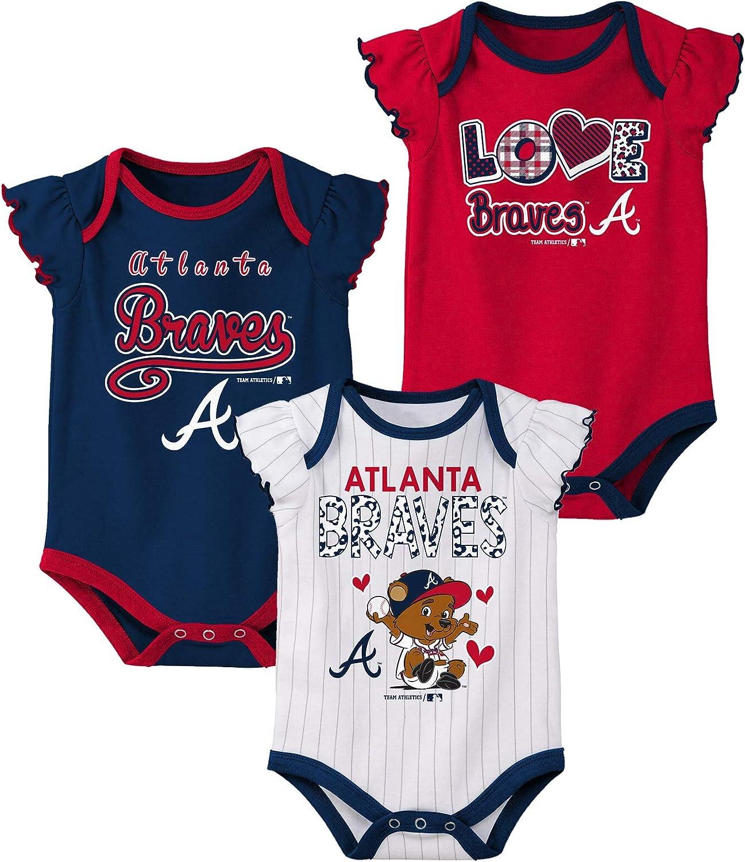 MLB Newborn & Infants 3pk Onsie Set, Team Variation