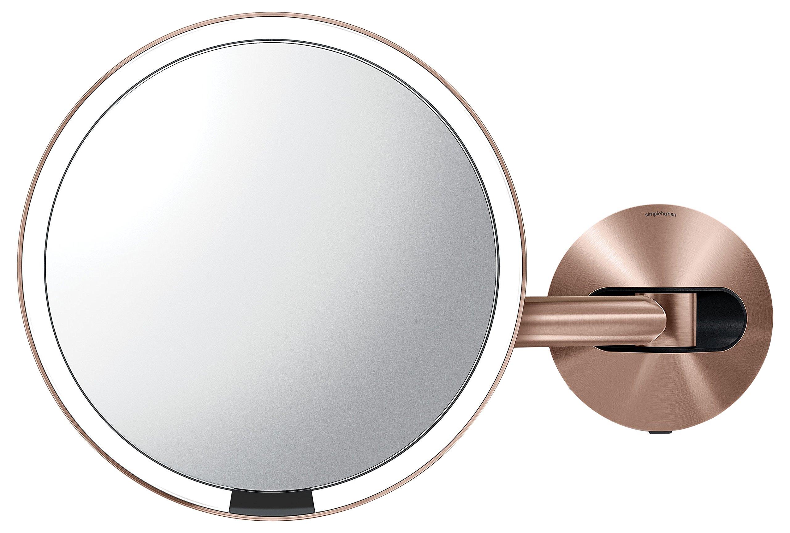 simplehuman 8'' Sensor Makeup Mirror Rose Gold Steel