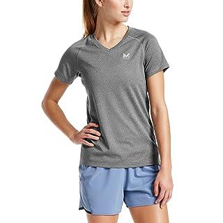 Mission Women's VaporActive Alpha Short Sleeve V-Neck T-Shirt, Heather Grey, Medium