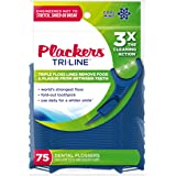 Plackers Tri Line Mint Flossers, 75 Count (Pack of 4)