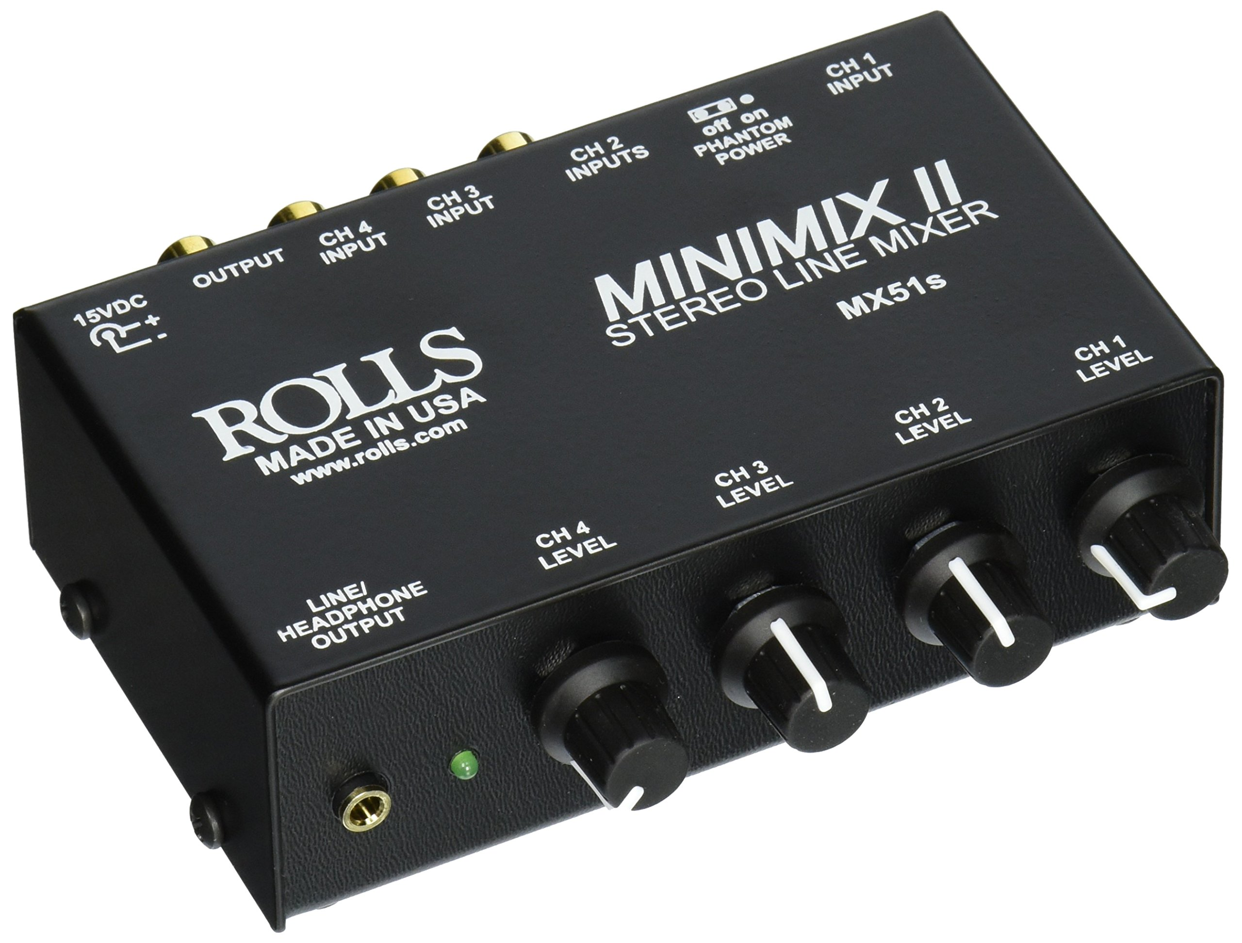 Rolls MX51S Mini Mix 2 Four-Channel Stereo Line Mixer by rolls