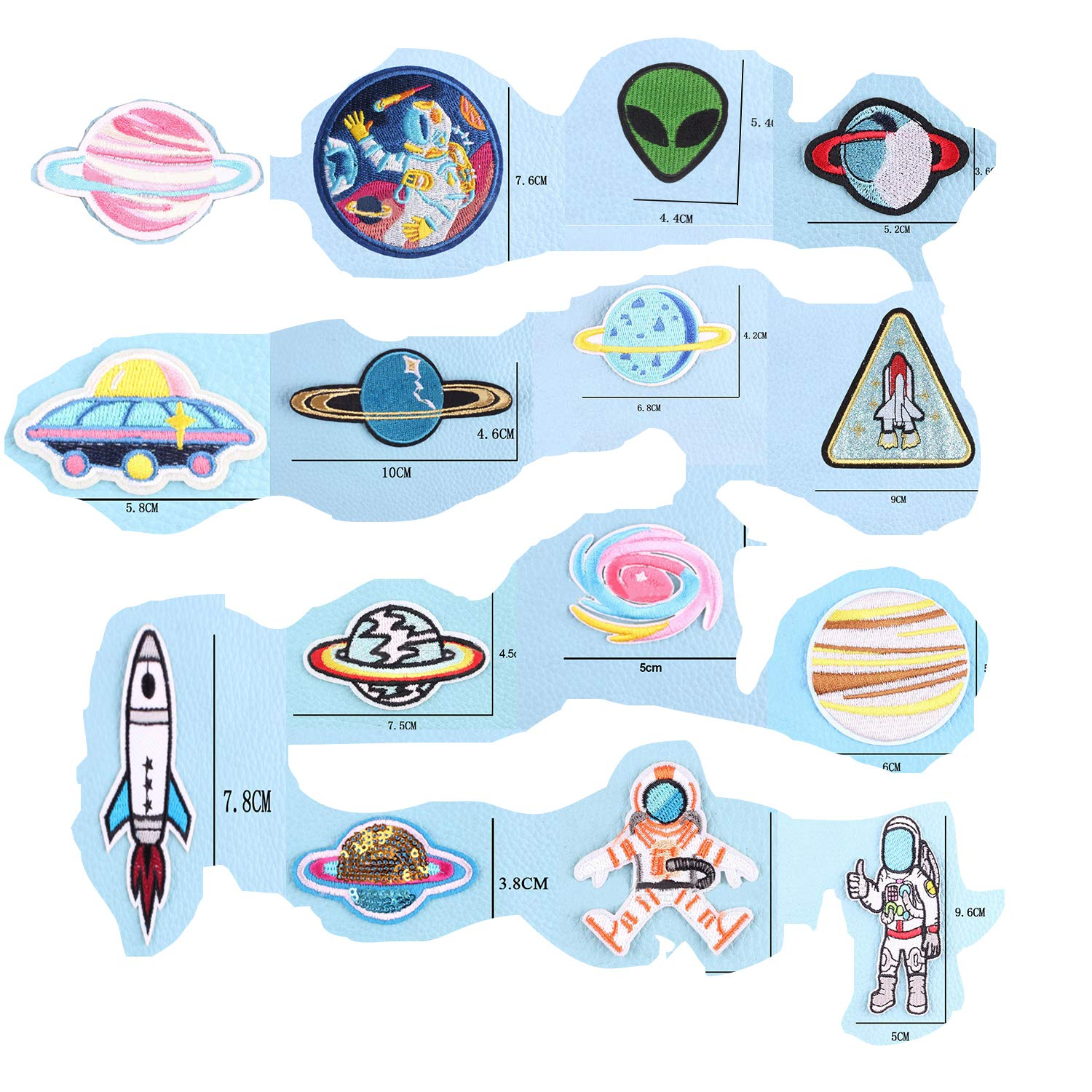 20pieces Iron on Patches Space Planets Patch Solar System Colorful Patches Appliques Stickers for Clothing, Backpack, Caps, Repair The Hole Stick Iron on Decorative by VAVIS TOVEY