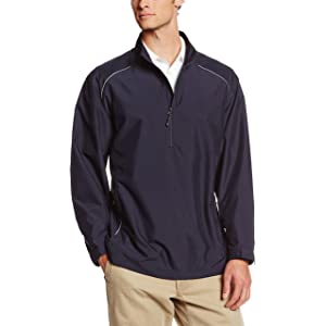Cutter & Buck Mens Big-Tall Cb Weathertec Beacon Half Zip Jacket
