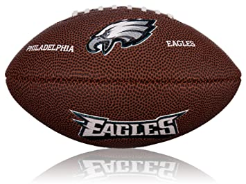 Wilson Football NFL Mini Philadelphia Eagles Logo - Balón de fútbol americano (caucho), color marrón, talla 2: Amazon.es: Deportes y aire libre
