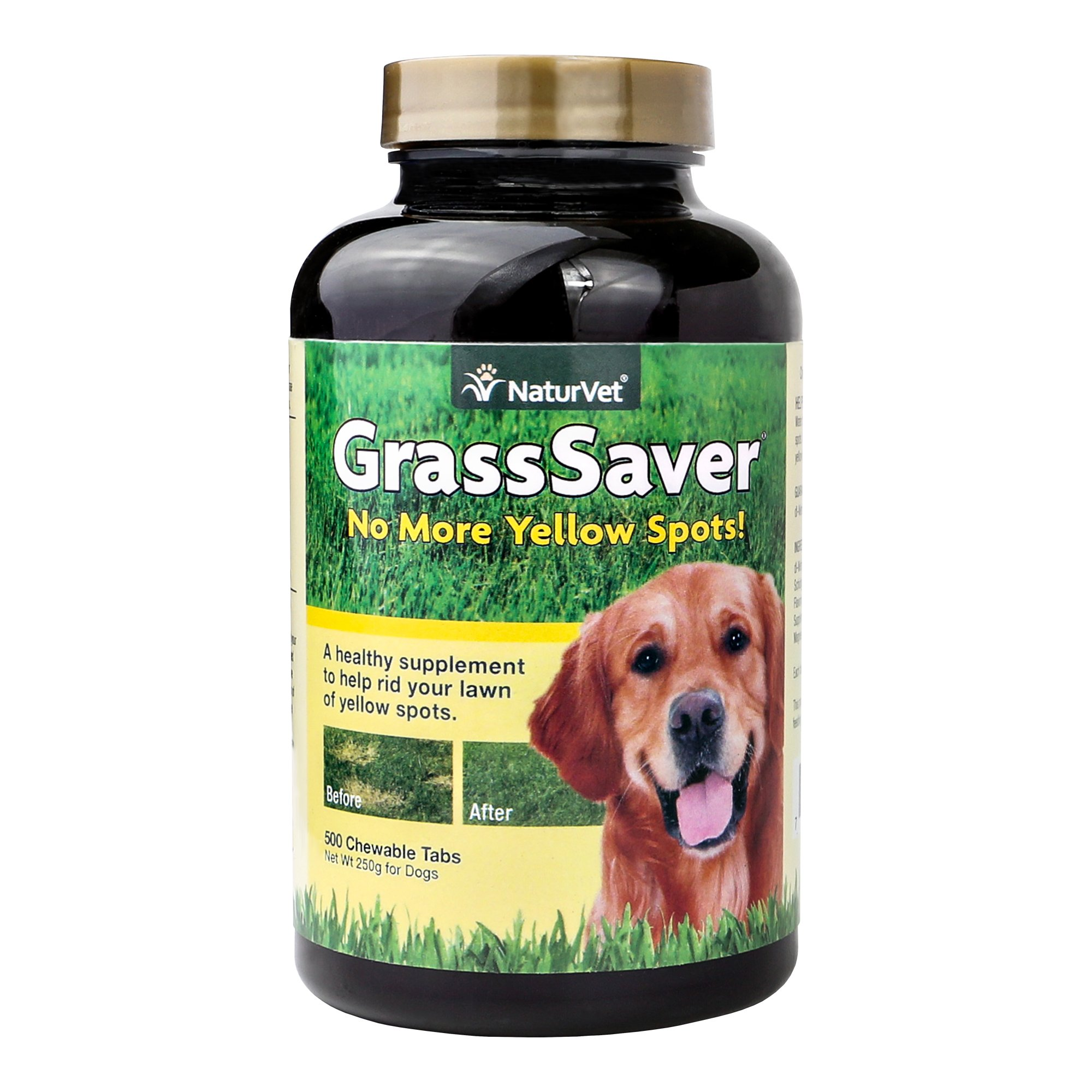 NaturVet GrassSaver for Dogs, 500 ct Soft Chews , Made in USA