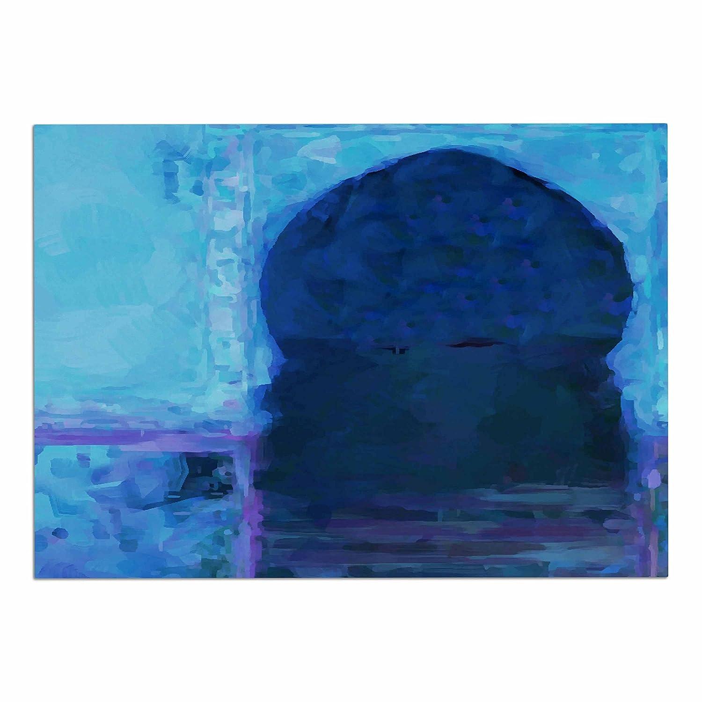 KESS InHouse Oriana Cordero Chefchaouen-bluee City  bluee Purple Dog Place Mat, 13  x 18