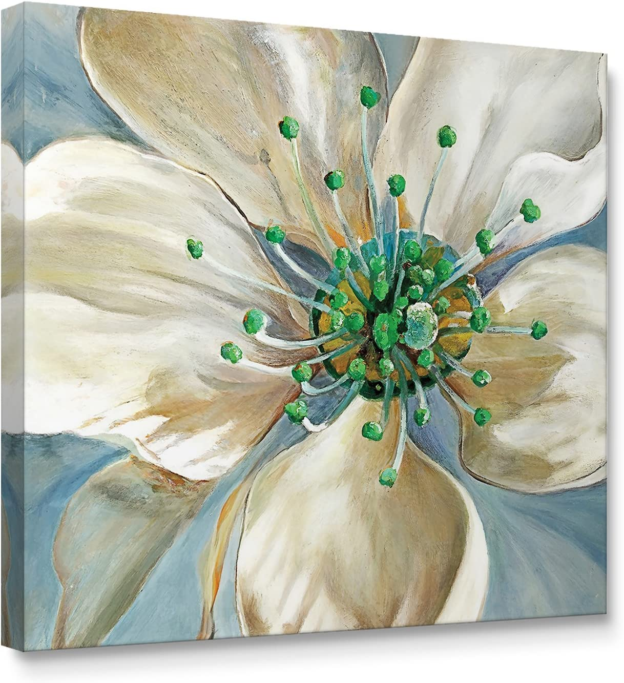 Niwo Art (TM - Magnolia Flower A, Floral Painting Artwork - Giclee Wall Art for Home Decor,Office or Lobby, Gallery Wrapped, Stretched, Framed Ready to Hang (16