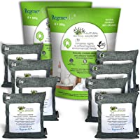 RegenerAir 8x200g Air Purifier Deodorizer Bags 100% Activated Bamboo Charcoal Deodorizer Odor Eliminator for Kitchens Bedrooms Bathrooms Cars Basements Pet Areas & Shoes