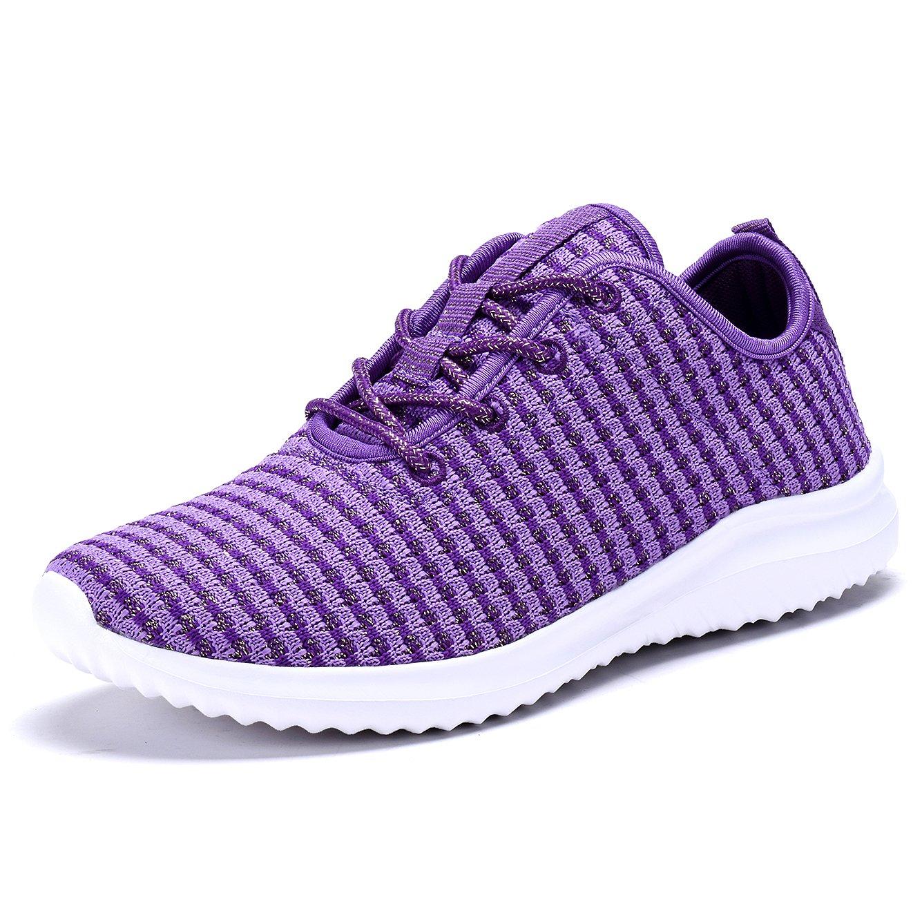 YILAN Women's Fashion Sneakers Casual Sport Shoes B074FMN6PH 7 M US|Purple