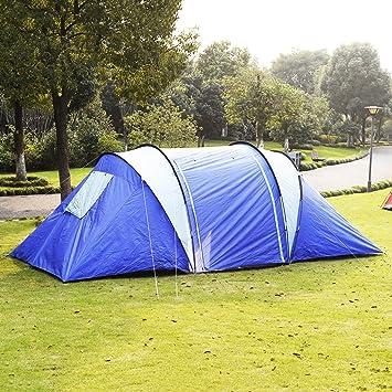 6-8 Person Man Waterproof C& 2+1 Room Hiking C&ing Tunnel Family Tent & Amazon.com : 6-8 Person Man Waterproof Camp 2+1 Room Hiking ...
