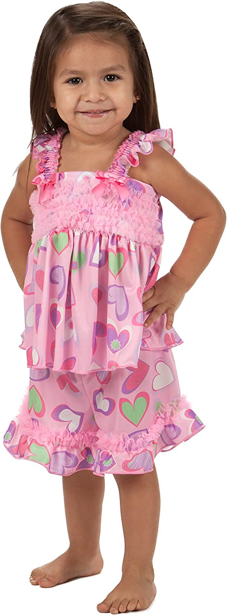 Sizes 2T - 6X Laura Dare Girls Sweet Heart Long Sleeve Pajama Set