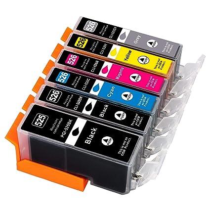 6 cartuchos de tinta de impresora compatibles con Canon MG Series ...