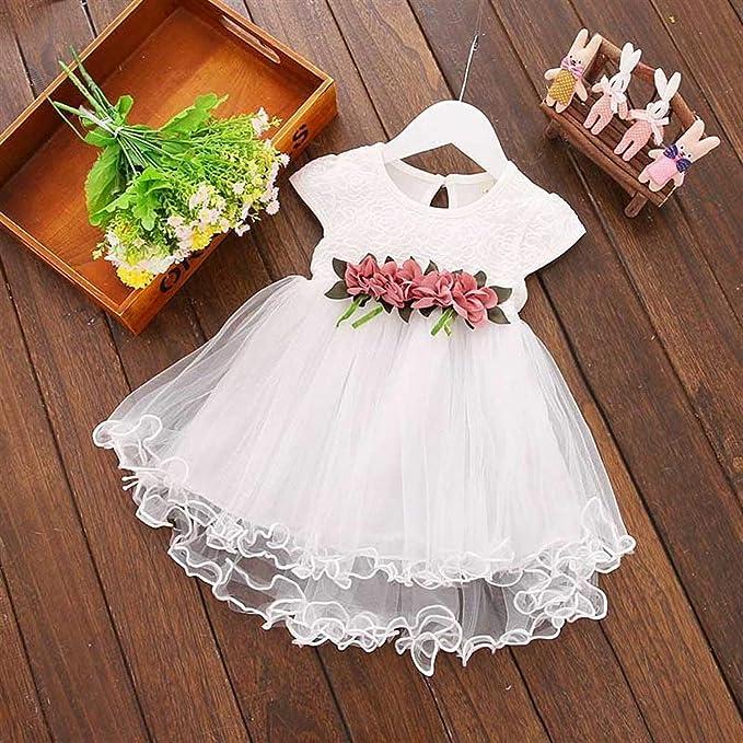 Amazon.com: Chitop Flower Newborn Baby Dress Summer Cute Baby Girls ...
