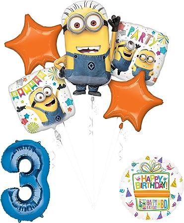 Amazon.com: Despicable Me 3 Minions 3rd Fiesta de cumpleaños ...