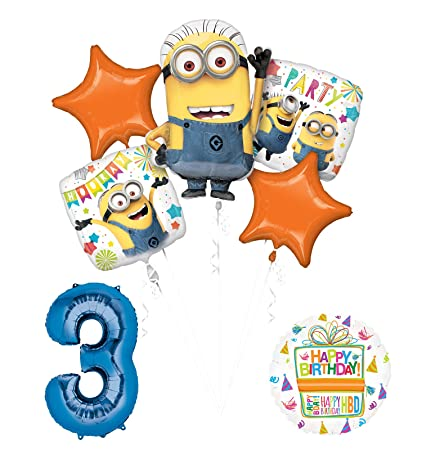 Amazon Despicable Me 3 Minions 3rd Birthday Party Supplies And