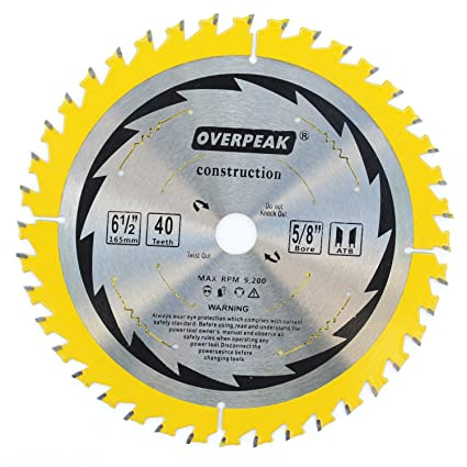 Overpeak 6 12 inch 40 tooth circular saw blade atb wood thin kerf overpeak 6 12 inch 40 tooth circular saw blade atb wood thin kerf greentooth Images