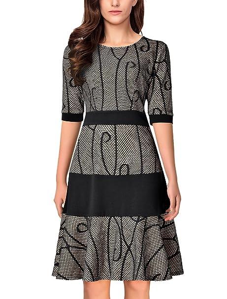 Amazon.com: Noctflos Vestido para mujer en corte A, tipo ...