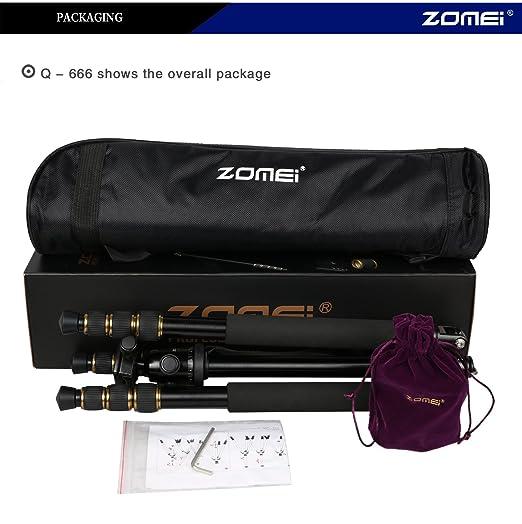flycoo Zomei Q666 portátil magnesio aleación de aluminio Trípode Monopod & Cabeza de bola cadrer con Reflex: Amazon.es: Electrónica