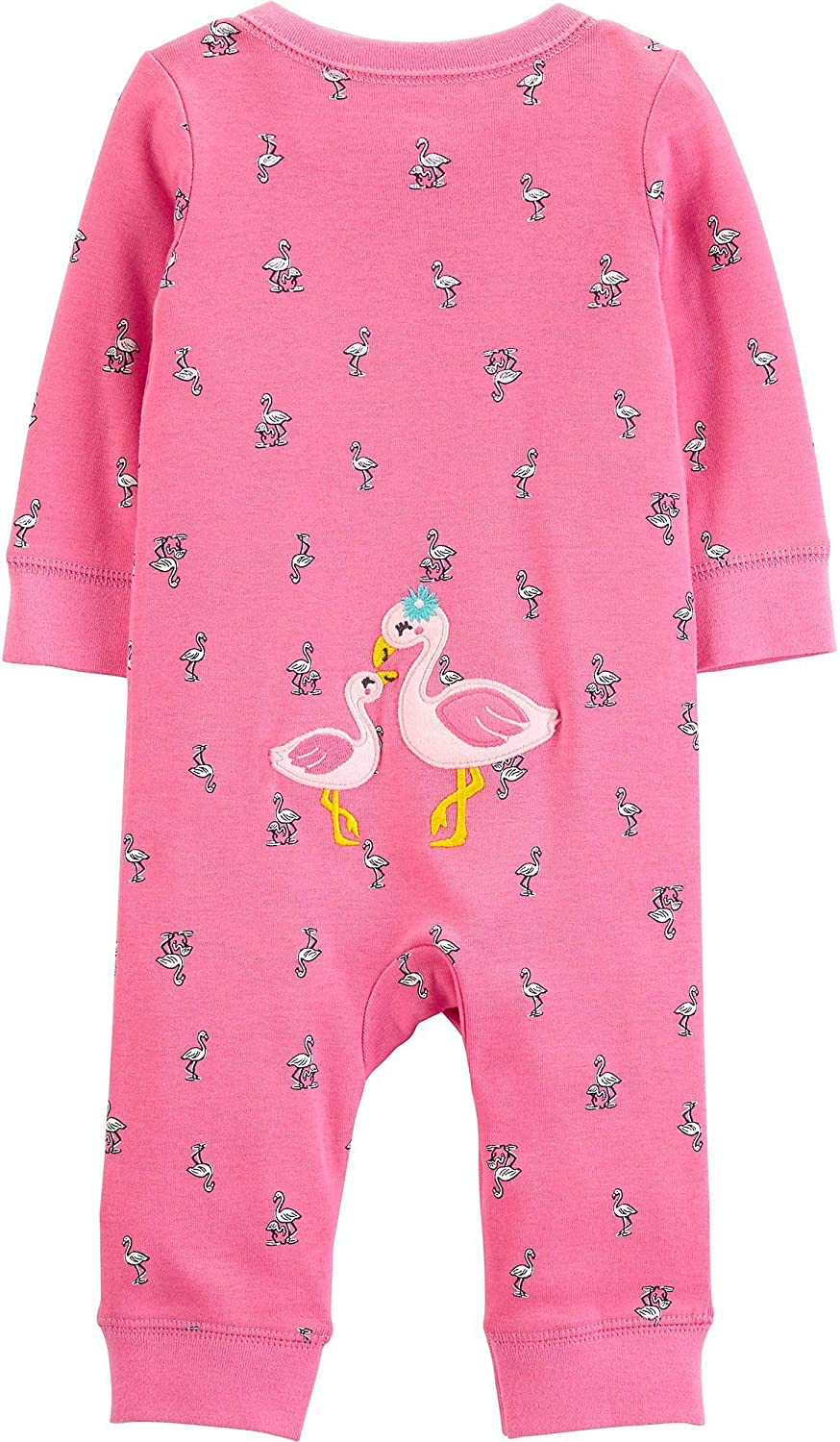 Carters Baby Girls Flamingo Bow Jumpsuit 9 Months Pink
