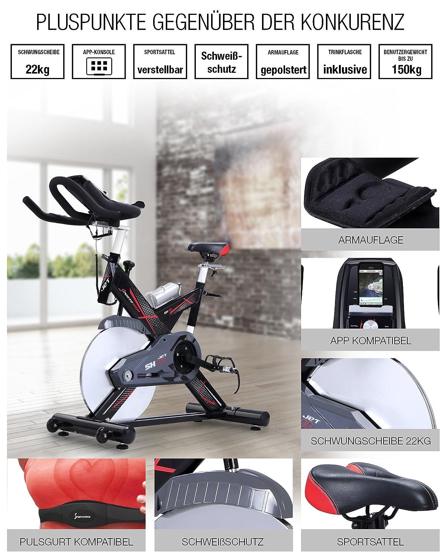 Sportstech Profi Indoor Cycle SX400 mit Smartphone App Steuerung bei amazon kaufen