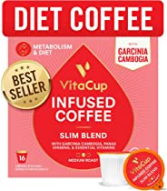 VitaCup Slim Blend Coffee Pods 16ct | Diet & Metabolism | Garcinia & Ginseng | Keto & Paleo Friendly | Vegan | B Vitamins | C