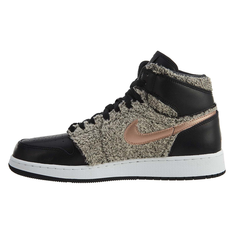 32b35d2b73aa43 4.5 M US Girls  Jordan Air 1 Retro High GG Big Kids Shoes Black Metallic  Bronze White 332148-022