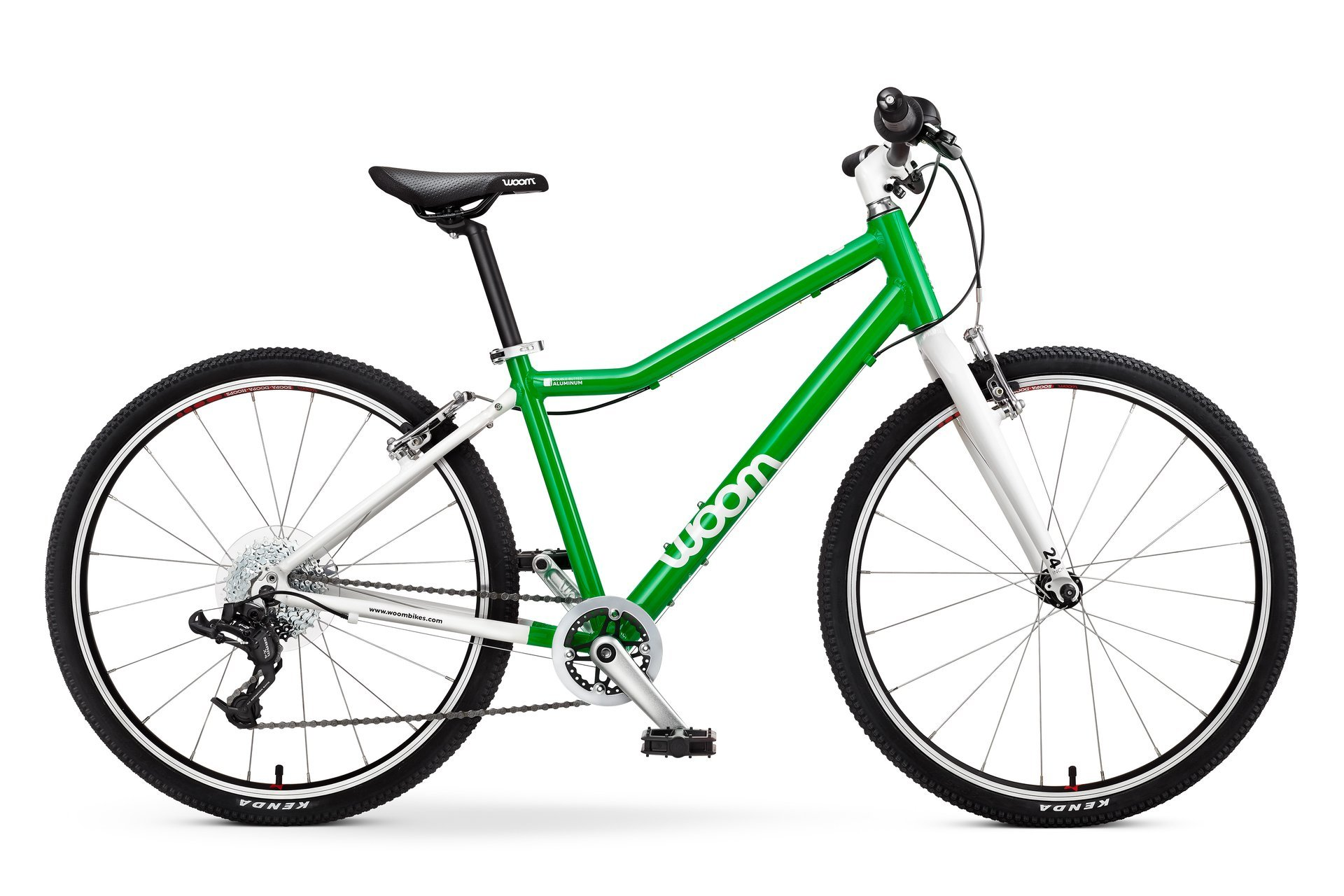 "woom 5 Pedal Bike 24"", 8-Speed, Ages 7 to 11 Years, Green"