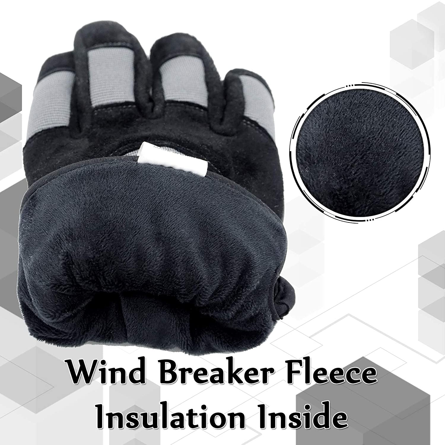 SKYDEER Winter Casual Gloves with Soft Deerskin Suede Leather and Warm Windproof