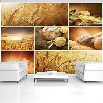 Vließ Fototapete Tapete Wandbild Frisches Brot und Brötchen 320238/_VEMVT