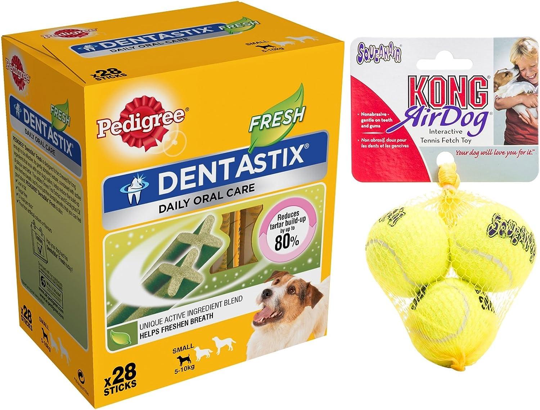 DENTASTIX Fresh 28 Pelotas de Tenis de Aire Kong para Perros ...