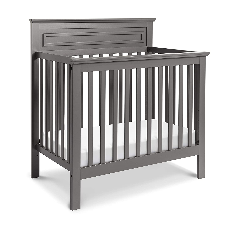 DaVinci Autumn 2-in-1 Mini Crib and Twin Bed with Mattress Pad Slate