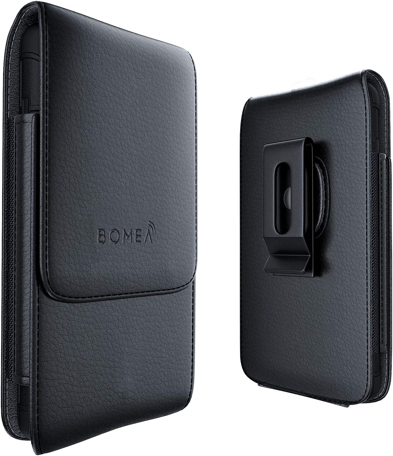 Bomea iPhone 6 Holster 6s 7 8 Cell Phone Pouch Belt Case with Clip Holster Cover Holder Carrying Sleeve with Swivel Clip for Apple iPhone 6/6S/7/8(Fits Phone with Other Case on) - Vertical Black