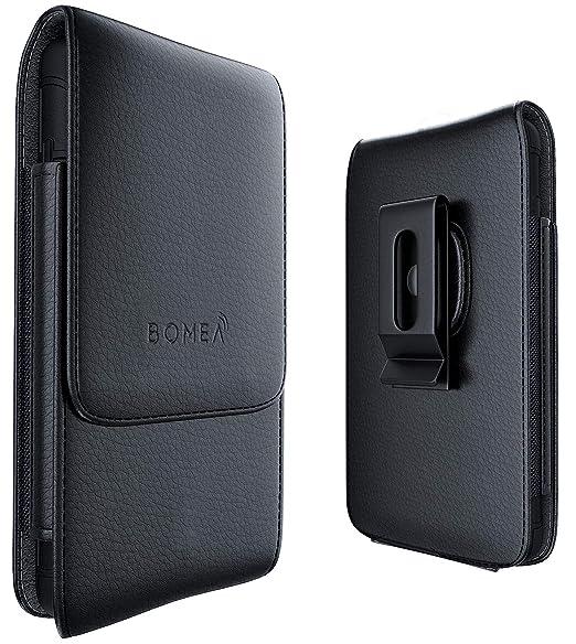official photos d6c13 0c819 Amazon.com: BOMEA Vertical iPhone 6 6S 7 8 Leather Pouch Belt Case ...