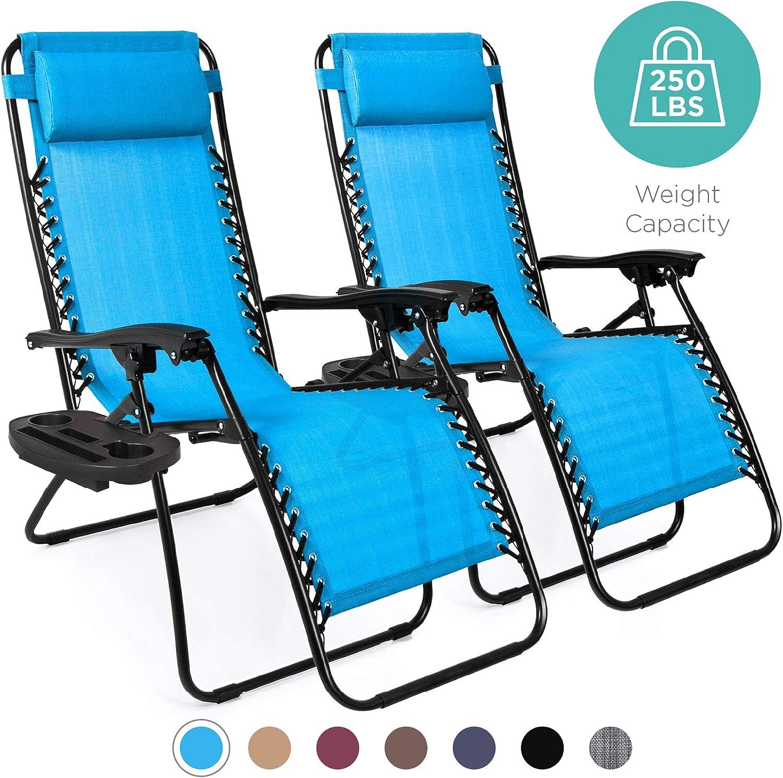 Best pool chair: Adjustable Steel Mesh Zero Gravity Lounge Chair Recliners