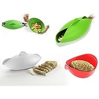 Silicona 600 ml para hacer pan microondas, sobre parrilla apta para lavavajillas, resistente al calor, parrillas de pescado saludable comer