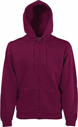 d294e10129c0 Fruit of the Loom Herren Sweatshirt Premium Hooded Zip Sweat  Amazon.de   Bekleidung