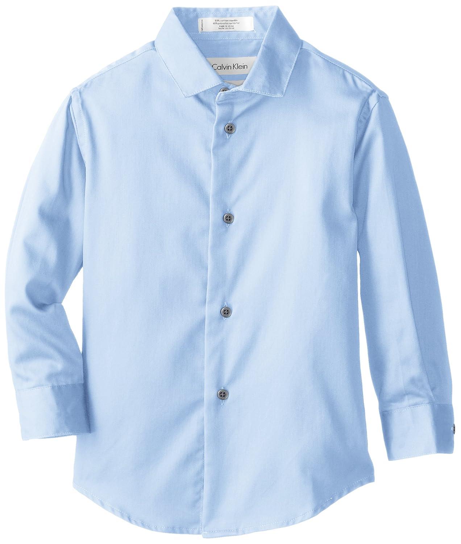 Calvin Klein Little Boys' Sateen Hanging Dress Shirt K471033