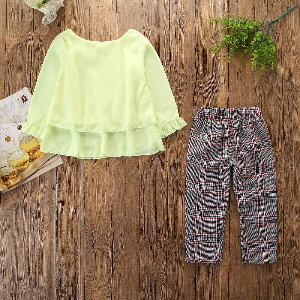 zolimx_bebé Conjuntos Niña Invierno, Recién Nacido Niños Niñas Trajes Volantes Camiseta Tops + Checked Pantalones Ropa Conjuntos: Amazon.es: Ropa y ...