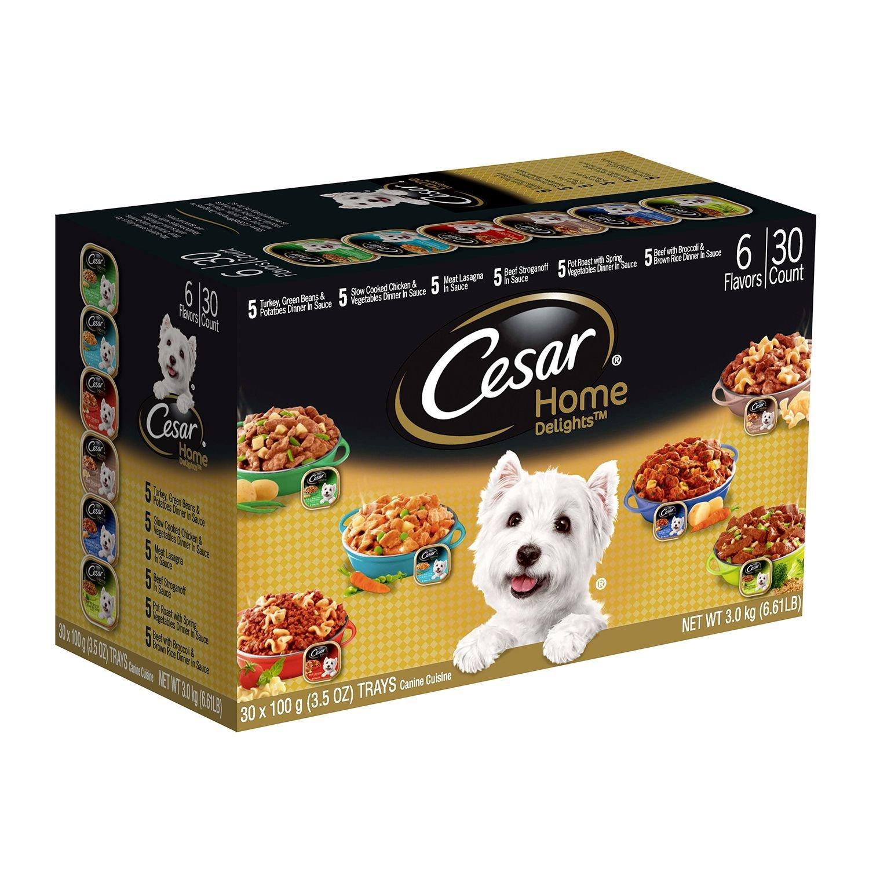 Cesar Home Delights Wet Dog Food, Variety Pack (3.5 oz., 30 ct.) (pack of 6)