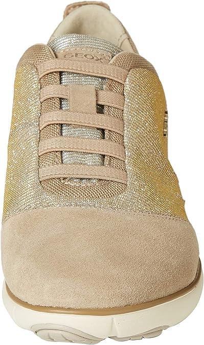 Geox d nebula g, scarpe da ginnastica basse donna, arancione (dk orangec7012), 41 eu amazon shoes marroni