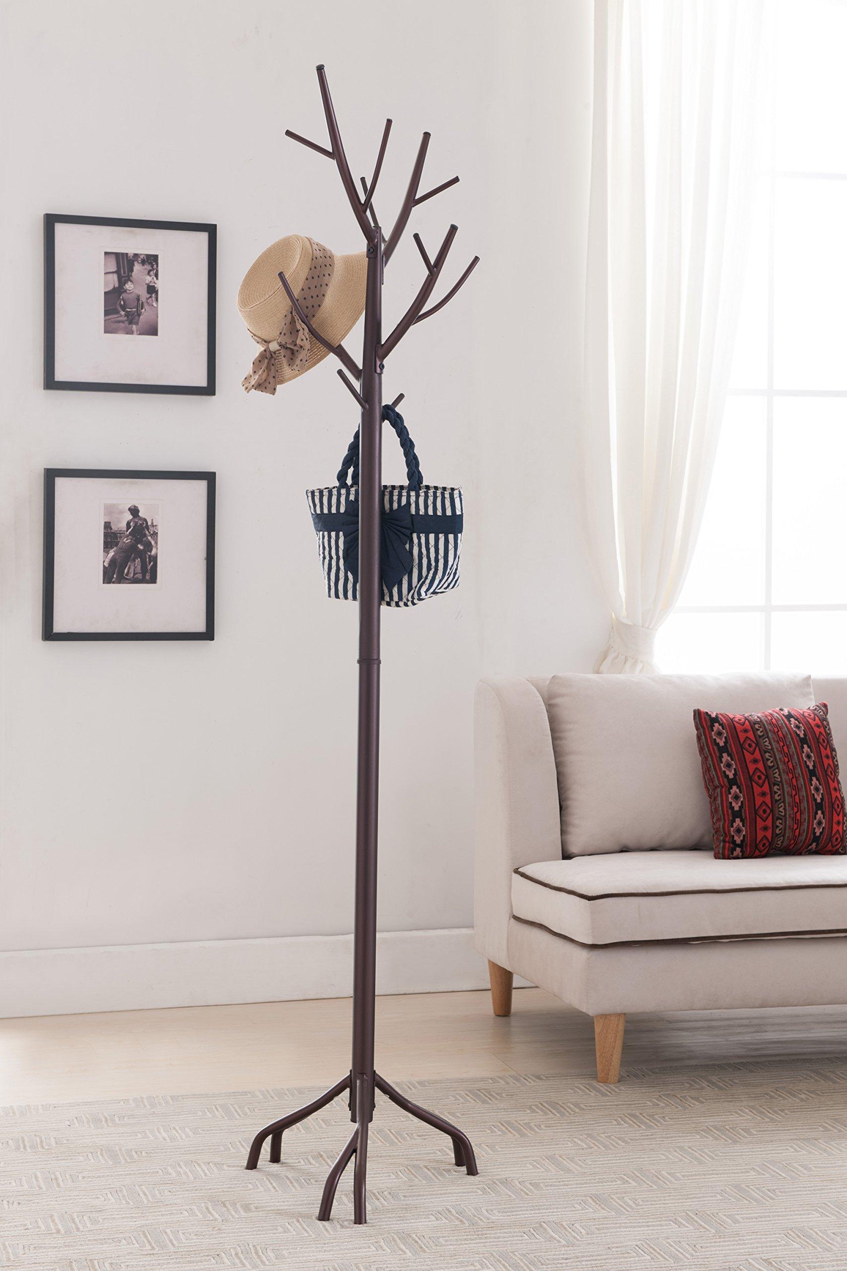 Burley Bronze Metal 14 Hook Entryway Twig Branches Coat & Hat Rack Display Stand