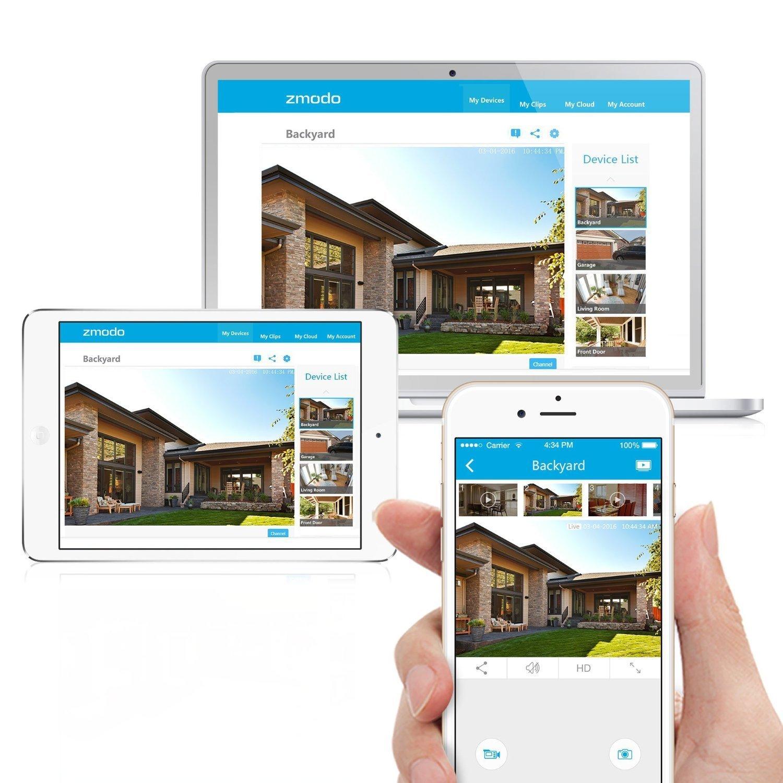 Amazon.com : Zmodo 720p HD Outdoor Home Wireless Security ...