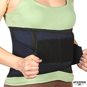 15aa18ebe1 Back Support Lower Back Brace Provides Back Pain Relief - Breathable Lumbar  Support Belt for Men